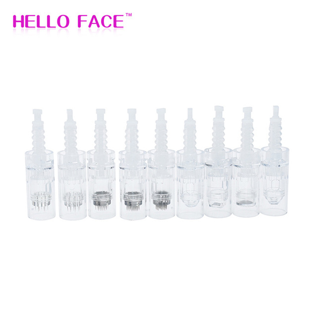 Dr. Pen Replacement Cartridges Disposable Needles 10pcs Bayonet Micro needle Microblading Tattoo Needles Sealed Bags