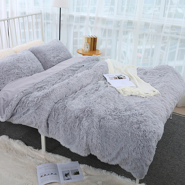 160x200CM Super Soft Shaggy Fur Double-layer Plush Blanket Fuzzy Cozy With Fluffy Sherpa Throw Blankets Bed Coral Blanket 2