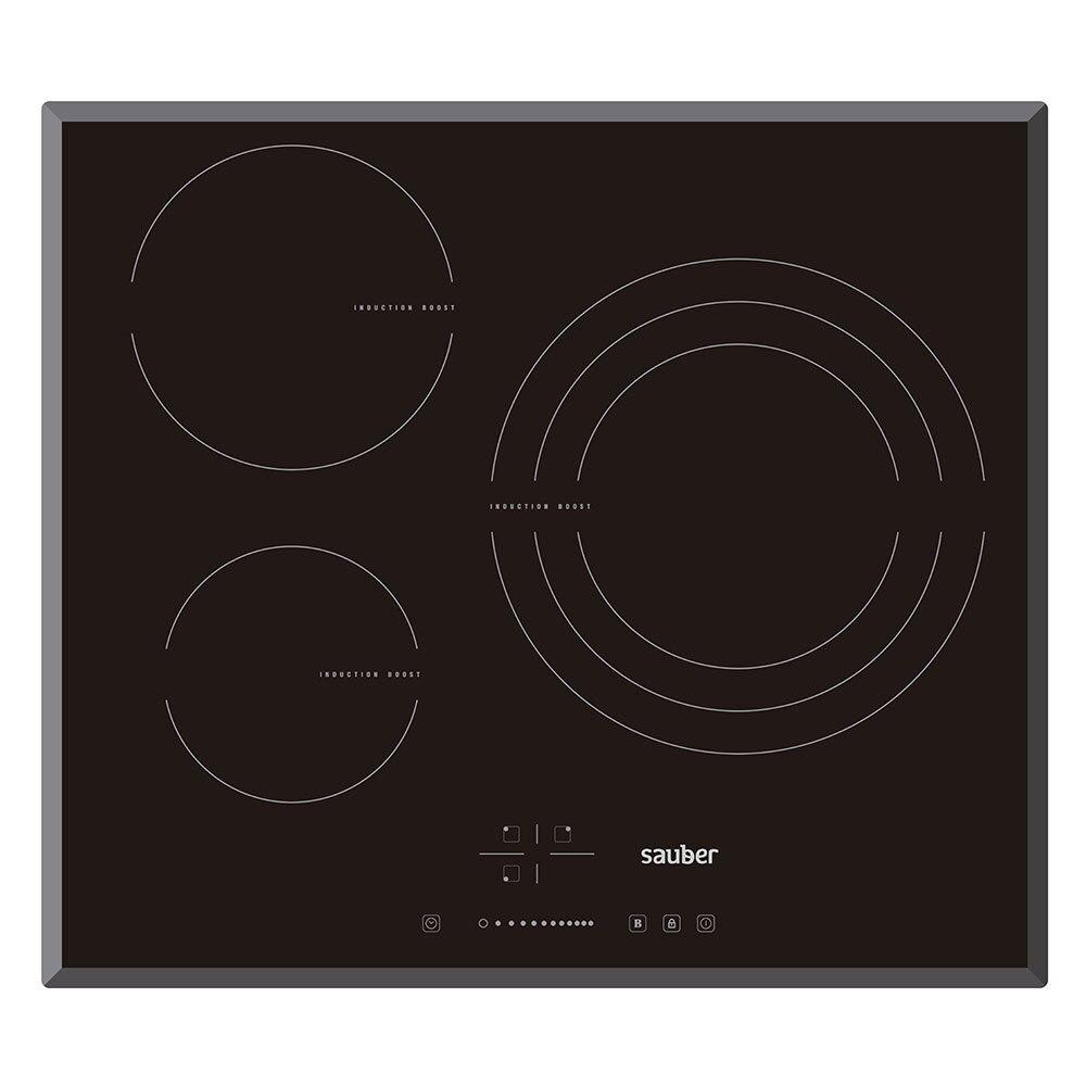 Hob Induction Sauber Sev03 3 Zones Cooking Width 60 Cm
