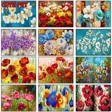 Алмазная 5D живопись «сделай сам», абстрактная картина с цветами, полноразмерная, квадратная, круглая, с буровыми растениями, вышивка крести...