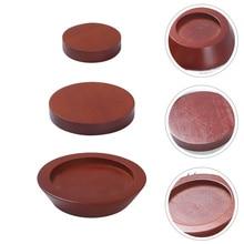 3pcs Wooden Furniture Lift Riser Sofa Bed Lifter Furniture Supply (Brown)