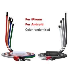 QIANLI cabo de alimentação do telefone Móvel para O IPHONE Android HUAWEI XIAOMI OPPO VIVO Uma Ativação Botão Cabo Linha de Manutenção