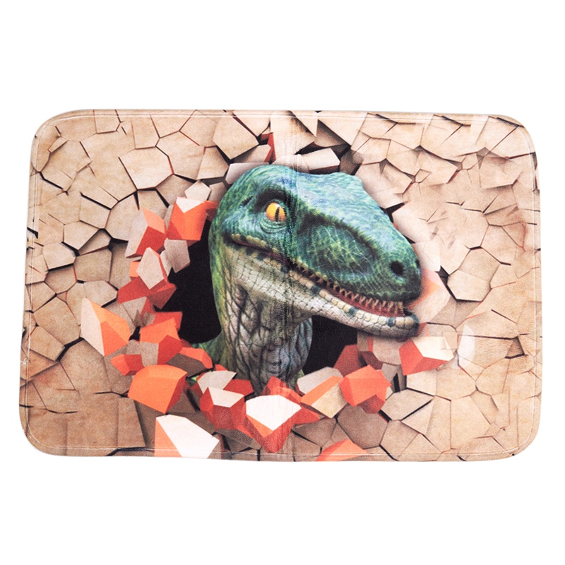 60X40Cm 3D Dinosaur Print Floor Mat Carpet Soft Flanner Doormat Rugs For Bedroom Living Room Door Floor Hallway Mats