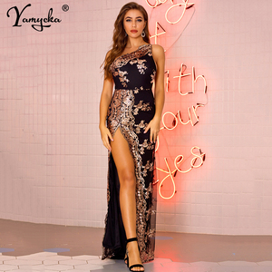Сексуальное Клубное Вечернее Платье макси с блестками, женское летнее платье, элегантное облегающее винтажное женское длинное платье, одеж...