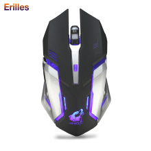 Silent Wireless Mouse 2.4G Cool Gaming Backlight Optical Rechargeable USB Mice 1600dpi Built-in Battery PC Laptop