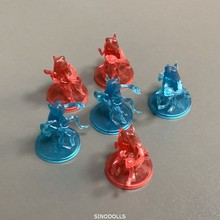 6pcs Blue Red Monsters Miniatures Board Game Role Playing Figures Model Toys 7pcs monsters heroes miniatures board game role playing figures model toys