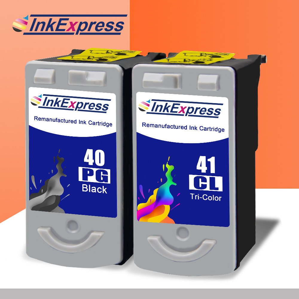 InkExpress 40XL 41XL Ink Cartridge Replacement For PG40 CL41 For Canon Pixma IP1180 IP1700 IP1800 MP140 MP220 MX300 Printer