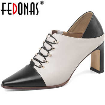 FEDONAS Women Pumps Kid Suede Party Pumps Night Club Shoes Spring Summer Lace Up Cross-Tied Pointed Toe High Heeled Shoes Woman