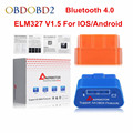 Aermotor-outil de Diagnostic de voiture   Moteur ELM327 V1.5 Bluetooth 4.0 ELM 327 1.5 BT ODB2 pour Android/IOS OBDII
