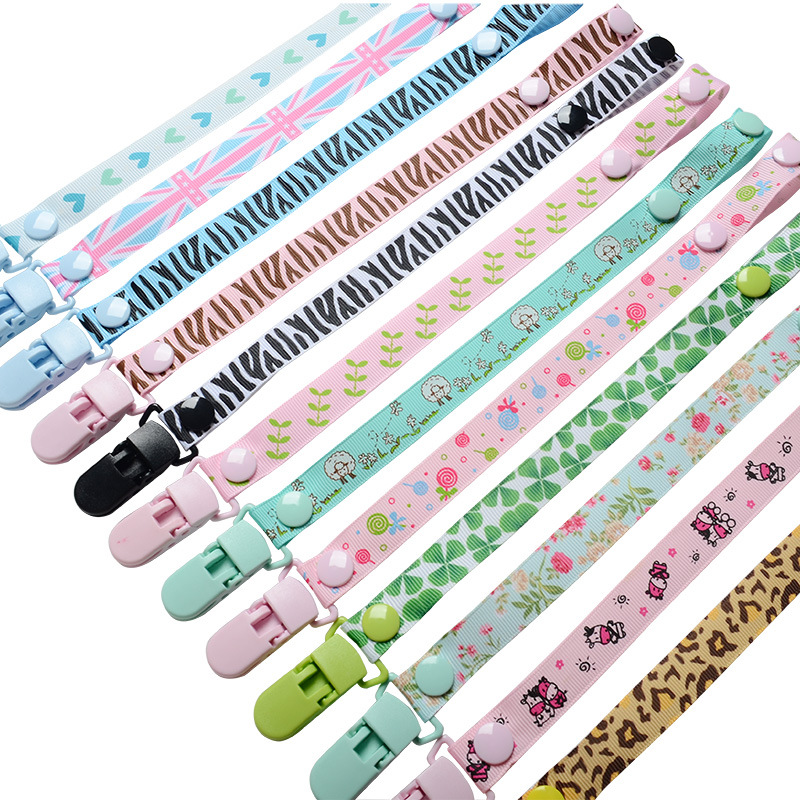 Pacifier Clips Newborn Soother Clips Chain Personalised Infant Present Gifts Personalized Baby Accessories Buckle Anti-out Clips