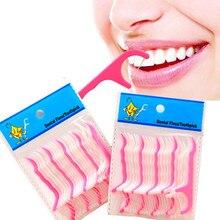 50 шт./лот зубная нить межзубная щетка Зубная палочка зубочистки зубная нить escarbadientes tandenstokers уход за полостью рта