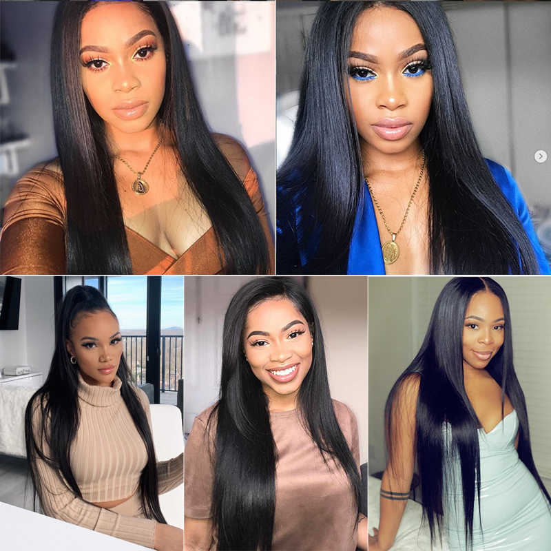 Beauty Forever 4*4 Lace Closure Wig Brazilian Straight Lace Wig Remy Human Hair Wig Nature Color 150% 180% Density