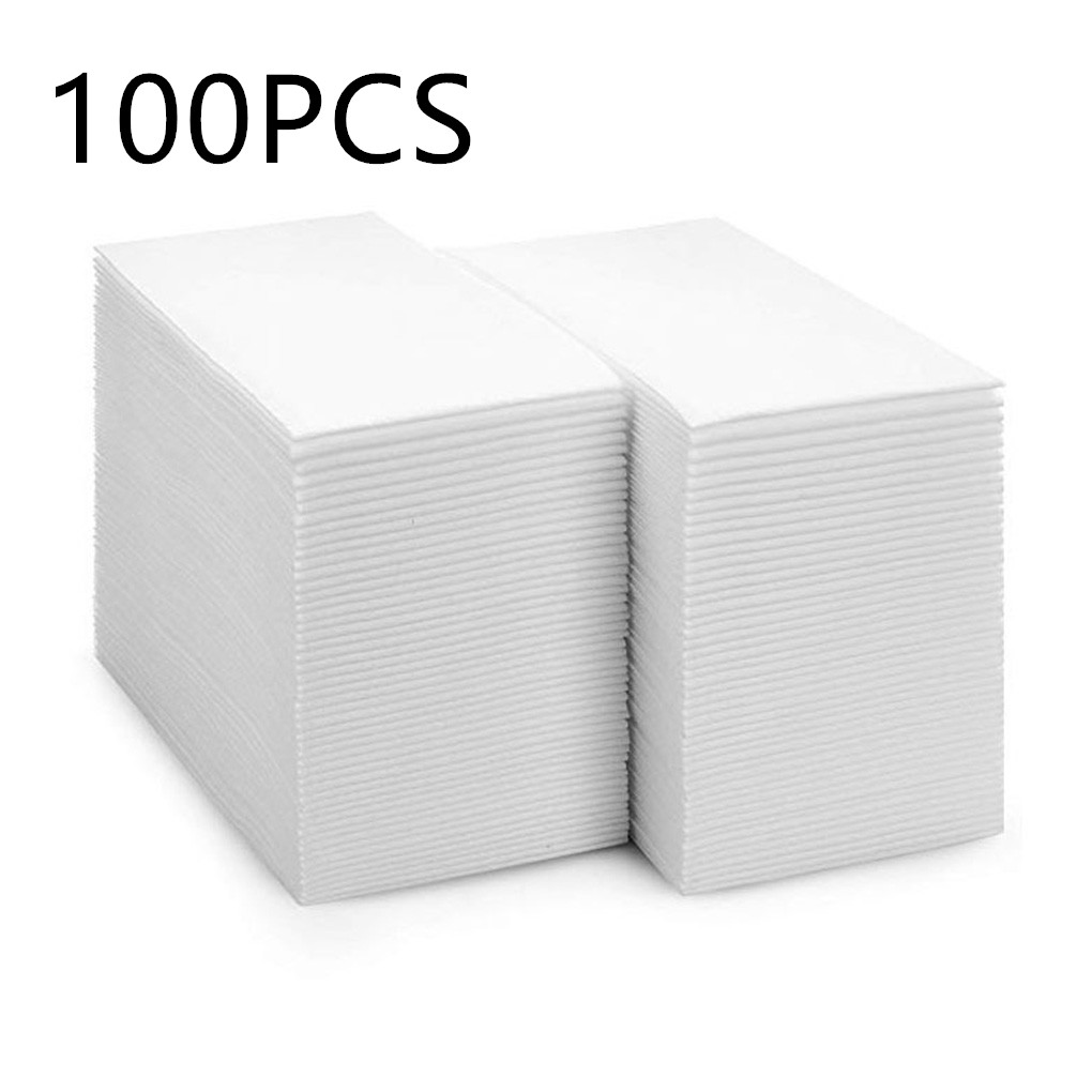 100pcs Disposable Paper Tissue Single Layer Dust-free Napkin Paper 30x43cm For Restaurant Home Hotel Tissue Paper