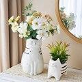 Японский керамический цветочный горшок для кошек креативная ваза скульптура животных растительные горшки декоративные керамические горш...