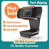 Hot Sale 30 degrees rotatable 2.0 HD Webcam 1080p USB Camera Video Recording Web Camera with Microphone For PC Computer 1