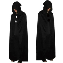 Unisex Halloween Party Cosplay Death Dress Up Costume Personality Black Adult Big Cloak Ghost Hooded Concise Cotton Cloak!