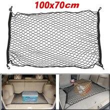 Black Mesh Holder nylon net storage 4 hooks car Car SUV rear trunk Polypropylene Stretch Brand New