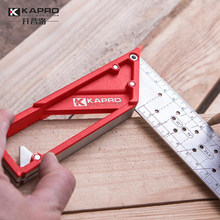 Kapro quadrado de aço inoxidável 45 ° 90 ° régua do carpinteiro marcação régua de aço régua de ângulo de marcação