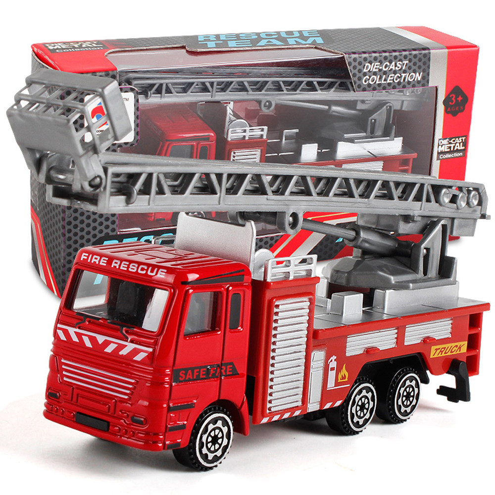 Scraping Toy Alloy Engineering Car Model Toy Car Engineering Toy Mining Car Truck Children's Birthday Gift Fire Rescue L0221