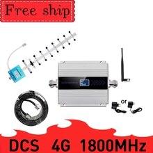 Repetidor celular 4g lte dcs 1800 mhz, gsm 1800 60db ganho gsm 2g 4g amplificador 15m reforço de sinal de telefone 4g mobole 1800 mhz