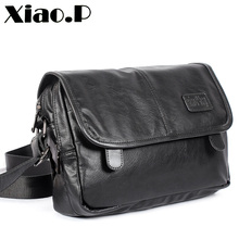 New design mens bags, High quality pu leather messenger bag,Fashion cross body bag,Casual students one shoulder School bag
