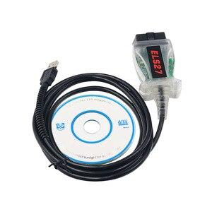 Image 2 - حديثا ELS27 فورمسح USB ماسح ضوئي تشخيصي ELS 27 لمازدا OBD2 USB التشخيص كابل ELS27 FTDI رقاقة ELS27 ELM327