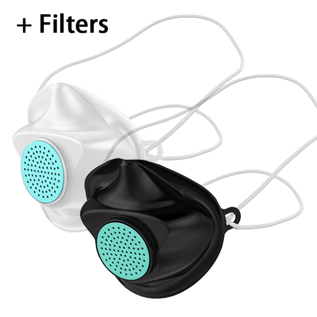 Non-disposable Mouth Face Mask + replaceable filters Anti Influenza bacteria Flu Dust proof PM2.5 Safety Care Face Mask