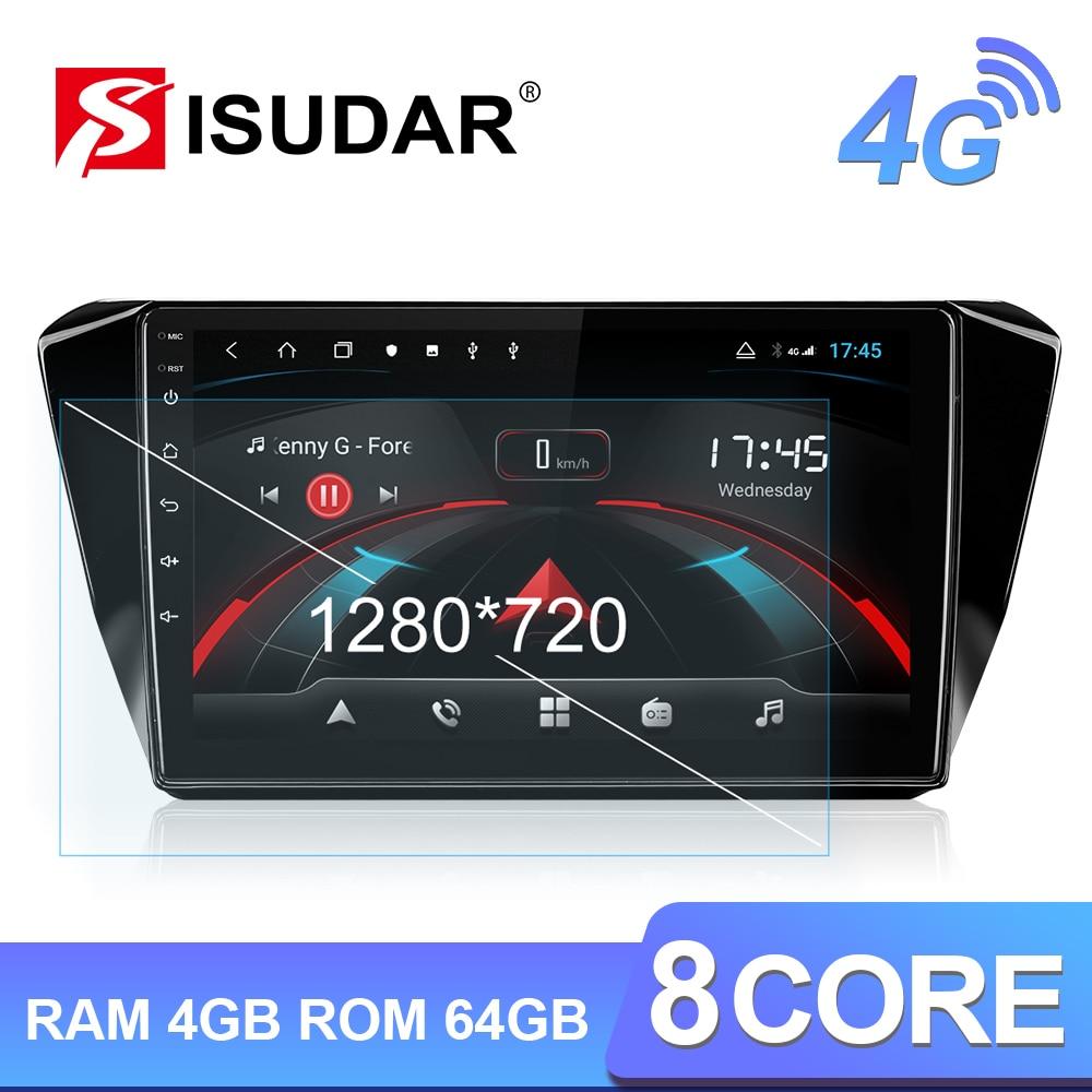 Isudar H53 4G Android Car Multimedia 1 Din Auto Radio For Skoda Superb 3 2016-2019 GPS 8 Core RAM 4GB ROM 64GB 1080P Camera DVR