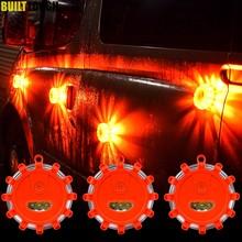 3 sztuk LED awaryjne magnes migające ostrzeżenie noc światła bezpieczeństwa Road Flare światła awaryjne z podstawa magnetyczna dla samochodów ciężarowych łodzi