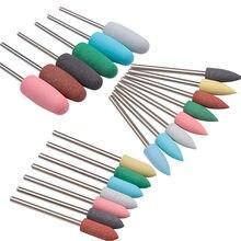 Gumowy silikonowy frez do Manicure kamienie wiertło do paznokci maszyna akcesoria do Manicure bufor do paznokci polerka szlifierka narzędzie