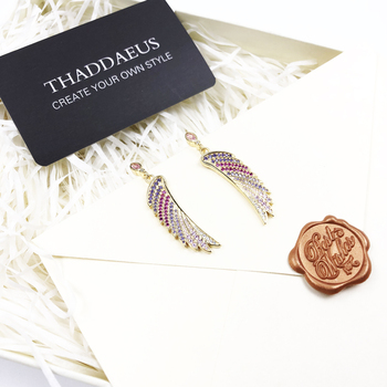 Earrings Gold-coloured Hummingbird Wing Exquisite Jewelry For Women,2020 New Individual Statements Gift In Sterling Silver 925