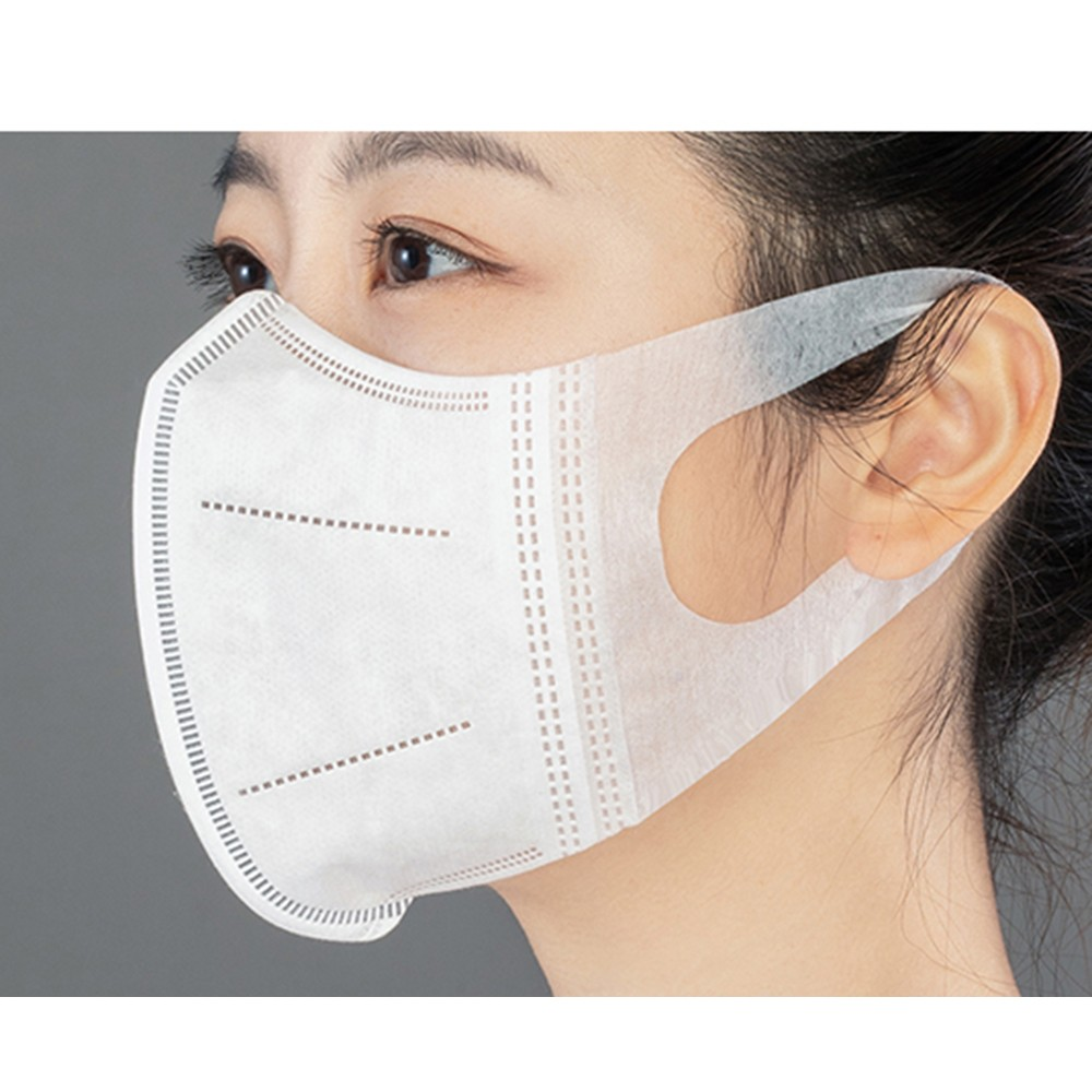 100 PCS / Box Disposable 3D Daily Protective Mask Popular 3 Layer Nonwoven Filter Cotton Elastic Ear Hook Activated Carbon Filte