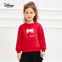Disney Children's Dress Girl's Round neck Guard Minnie Baby's Top and Baby's Clothes Mickey Mouse Clothing Baby Girl Sweatshirt
