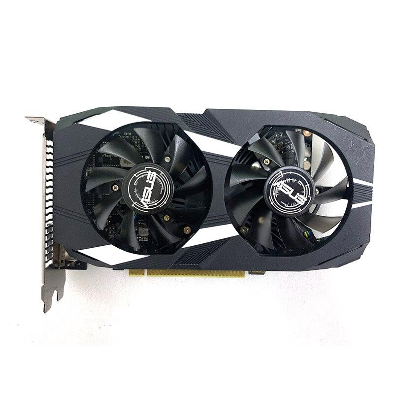Used 90% New ASUS GeForce Gtx1650 4GB GDDR5 4K 128 Bit Gaming Graphics Cards For Desktop Gamer PUBG Gtx 1650 4 GB 7680X4320
