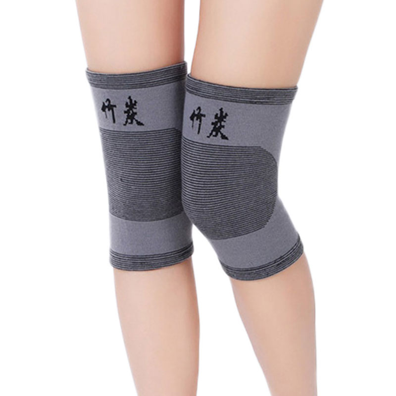 2Pcs Knee Pads Spandex Keep Warm Knee Protector Relieve Knee Support Sports Knee Guard For Women Men Grey Bandage Ankle Brace