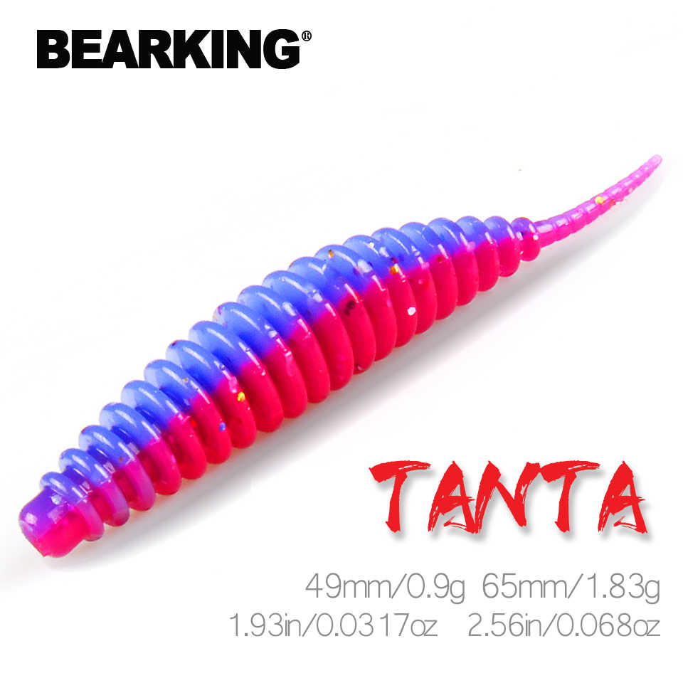 BEARKING Tanta 49 millimetri 65 millimetri Richiamo Morbido di Pesca Lure Shad Esche In Silicone Wobblers Swimbait Artificiale leurre souple