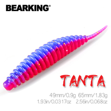 BEARKING Tanta 49mm 65mm Fishing Lure Soft Lure Shad Silicone Baits Wobblers Swimbait Artificial leurre souple cheap Ocean Boat Fishing Ocean Beach Fishing LAKE River Reservoir Pond stream Ocean Rock Fishing Artificial Bait 0 9g 1 83g Hi friend if you Meet any problem pls contact us