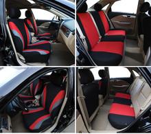 Pokrowce na fotele samochodowe uniwersalny czerwony szary niebieski kolor pokrycie siedzenia samochodu 9 zestaw pełne pokrowce na siedzenia na pokrowce na siedzenie Sedans 2020 tanie tanio Cztery pory roku Poliester 46 46inch Pokrowce i podpory 0 9kg 22 05inch Universal Car Seat Cover Red Blue Green Front Rear Left Right