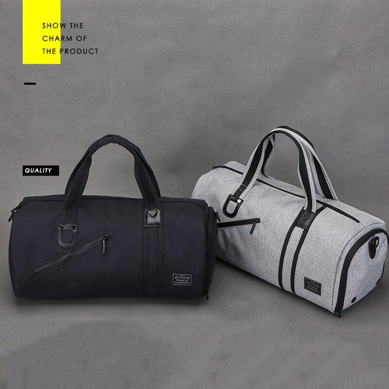 Bolsas de gimnasio multifuncional portátil de gran capacidad para hombres bolsos de viaje de hombro zapatos de almacenamiento al aire libre Fitness Yoga entrenamiento bolso - 2