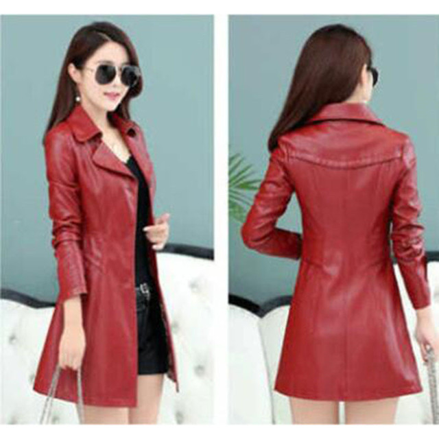 Fashion Faux Leather Jacket Women Spring Autumn
