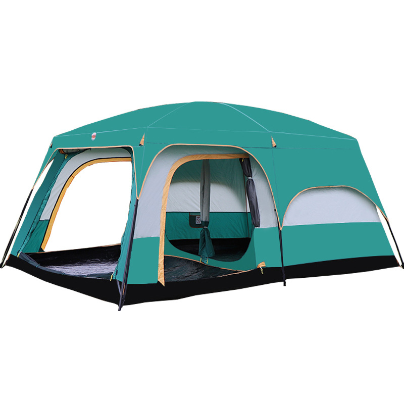 Shop For Cheap Large Camping Tent Double Layers Waterproof 6-10 Person 430x305x200cm Two Bedroom One Living Room Tent Family Party