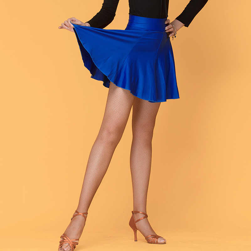 Spódnice do tańca latynoskiego dorośli włókno mleczne Mini spódniczka Salsa Cha Cha Rumba Samba Tango odzież do tańca praktyka odzież sportowa DN4940