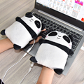 USB Beheizte Handschuhe Elektrische Heizung Hand Wärmer Fingerlose Nette Panda Form Hand Wärmer Office Home Arbeit Handschuhe Winter Geschenke