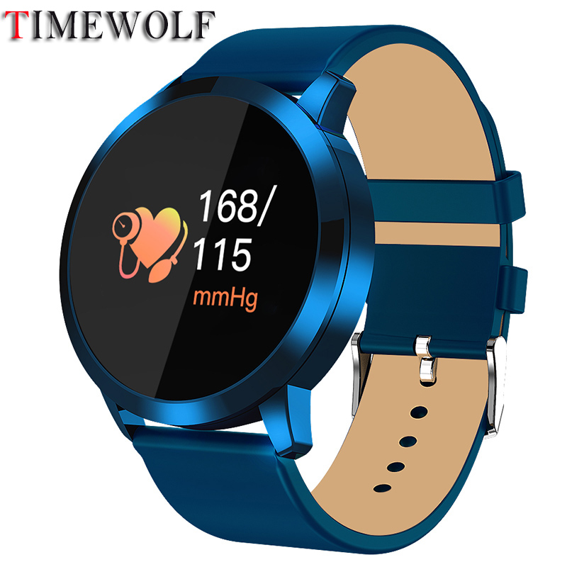 Timewolf Q8 Smart Watch <font><b>OLED</b></font> Color Screen Fitness Tracker Heart Rate Monitor Bluetooth IP68 Waterproof Smartwatch Q8 image