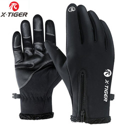 X-Tiger Winter Cycling Bicycle Gloves Windproof Thermal Warm Fleece Gloves Men Women Motorcycle Snow Skiing Sport Bike Gloves