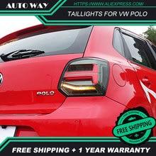 Araba Styling park lambaları için VW Polo arka lambaları 2011 2017 Polo arka lambası LED kuyruk lambası polo arka lambaları arka bagaj lambası