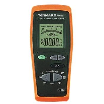 TENMARS TM-507 Insulation Tester Megohmmeter Resistance Tester CAT IV 600V 4 Digits LCD Display, 4 Digit LCD Display. hioki dt4221 premier pocket dmm digitl multimeter with cat iv 300v cat iii 600v safety