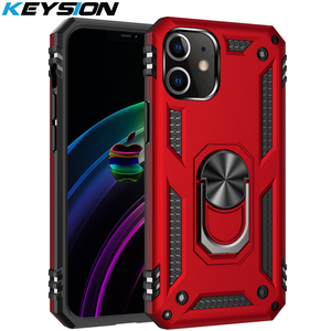 KEYSION Shockproof Case for iPhone 12 12 Mini Max Ring Stand Heavy Protection Phone Back Cover for iPhone 12 Pro 12 Pro Max 2020