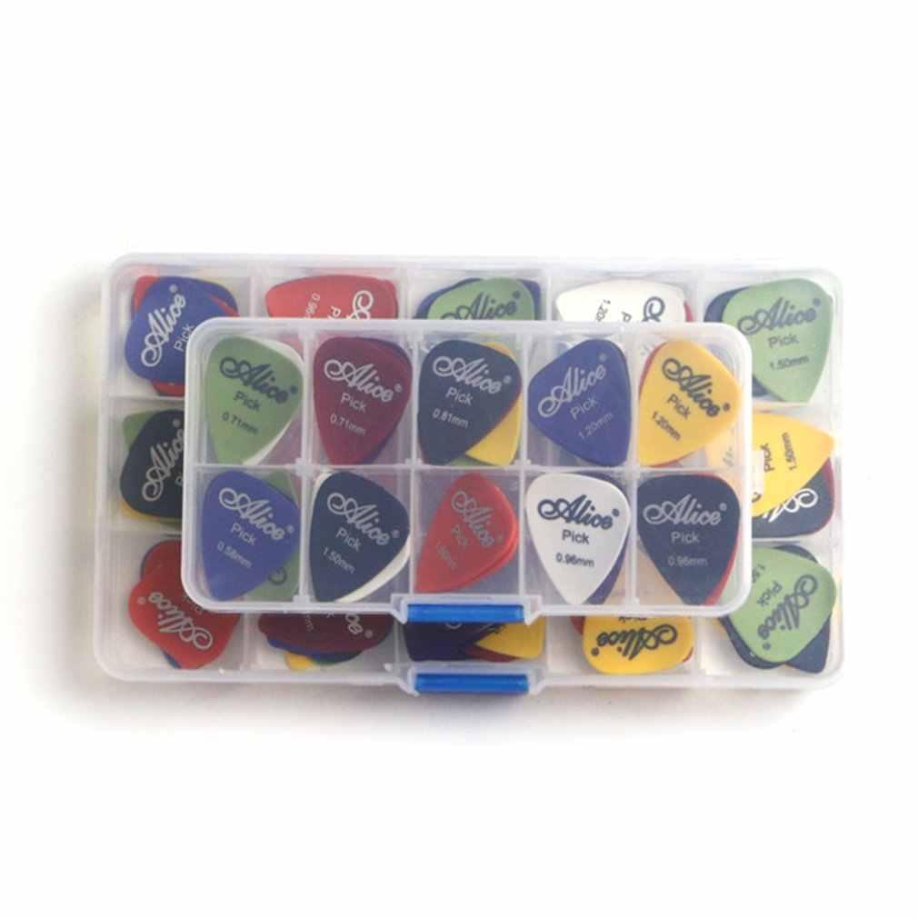 חם! 24/100pcs בס גיטרה מבחר צבעוני עובי לערבב 0.58-0.81mm מפרט מתווך גיטרה עם קופסא פלסטיק