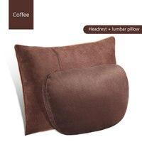 2 Pcs Universal Car Headrest S Class Ultra Soft Pillow For Mercedes Benz Maybach Protective waist car seat lumbar pillows
